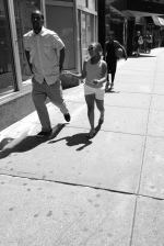 East Village Father and Daughter