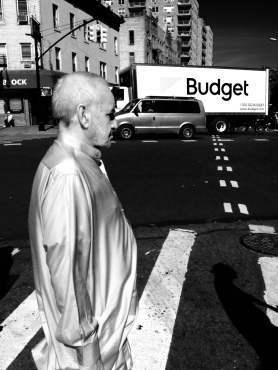 Man Walking Across Street Flatbush