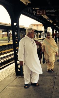 Couple on platform